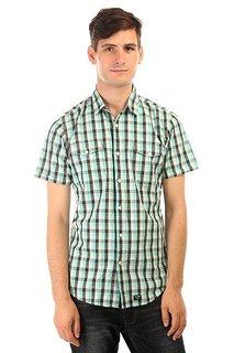 Рубашка в клетку Globe Attfield Short Sleeve Shirt Aqua