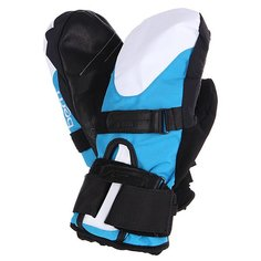 Варежки сноубордические женские Bern Womens Synthetic Mittens Removeable Wrist Guard Cyan/White