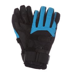 Перчатки сноубордические Bern Mens Synthetic Gloves Removeable Wrist Guard Black/Cyan