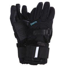 Перчатки сноубордические женские Bern Womens Synthetic Gloves Removable Wristguard Black