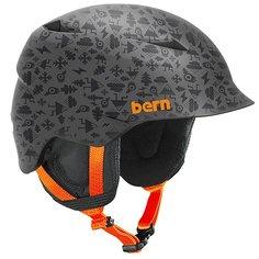 Шлем для сноуборда детский Bern Snow Zipmold Camino Grey Feature Creature/Black Liner