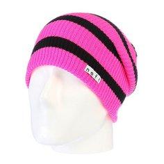 Шапка носок Neff Daily Stripe Pink/Black