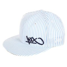 Бейсболка с прямым козырьком K1X Seersucker Tag Flawless 59/50 White/Blue