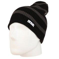 Шапка носок Neff Daily Stripe Beanie Black/Charcoal