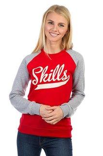 Толстовка классическая женская Skills Skills Classic Red/Grey