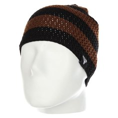 Шапка Fallen Buffalo Striped Knits Beanie Brown/Black