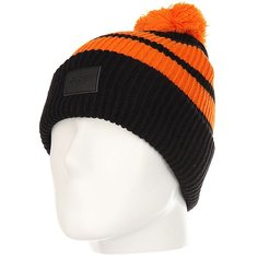 Шапка Globe Portland Beanie Black/Orange