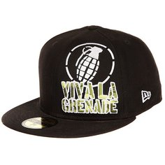 Бейсболка с прямым козырьком Grenade Viva La Big Crop Black
