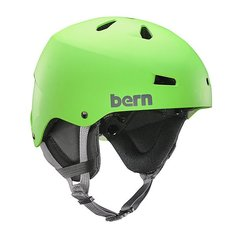 Шлем для скейтборда Bern Team Macon Neon Green/Black Cordova Earflaps