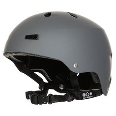 Шлем для сноуборда Bern Macon Matte Grey Distressed Logo