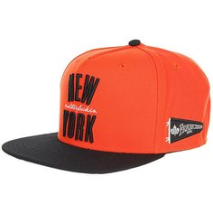 Бейсболка с прямым козырьком K1X Ny Franchise Snapback Cap Black/Orange