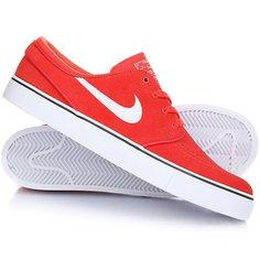 Кеды кроссовки низкие Nike Zoom Stefan Janoski Max Orange/White Black