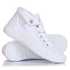 Кеды кроссовки высокие женские Palladium Aventure White/White/Cubic Print