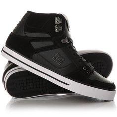 Кеды кроссовки высокие DC Spartan High Wc Black/Dk Grey