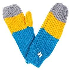 Варежки женские Harrison Beatrice Gloves Yellow/Blue/Grey