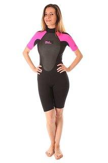 Гидрокостюм (Комбинезон) женский Billabong Launch Ss Springsuit Real Hot Pink