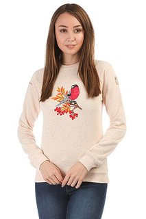 Толстовка свитшот женская Запорожец Птица Х Helga Розово-бежевый Меланж