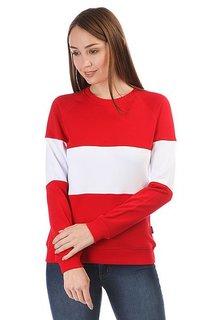 Толстовка классическая женская Skills White Stripe Красный/Белый