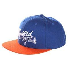 Бейсболка с прямым козырьком Undefeated War Paint Cap Blue
