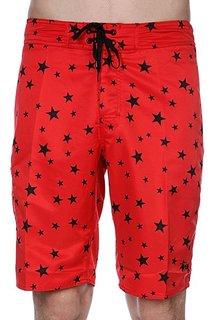 Пляжные мужские шорты Stussy Stars Trunk - Long Red