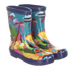 Сапоги резиновые детские Havaianas Kids Printed Rain Boots Multi