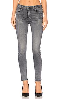 Укороченные узкие джинсы с высокой талией - Current/Elliott