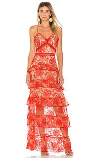 Ярусное вечернее платье rosie - NICHOLAS