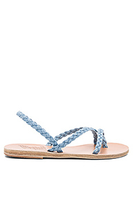 Yianna denim sandal - Ancient Greek Sandals