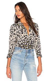 Cropped signature silk blouse - Equipment