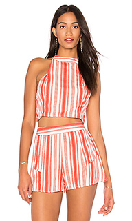 Stripe smocked crop top - Band of Gypsies