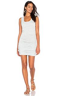 Платье на шлейках с рюшами - Lanston