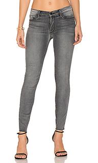 Узкие джинсы с потрепанным низом noah - Black Orchid
