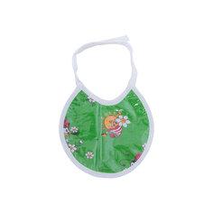 Фартук нагрудный Ф1 клеёнка, 200*200, зеленый с мишками Gul Sara