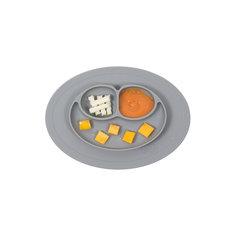 Тарелка малая с подставкой Mini Mat, 240 мл., ezpz, серый