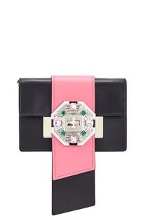 Кожаная сумка Jewels Ribbon Prada