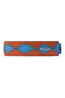 Браслет из кожи и текстиля Prada