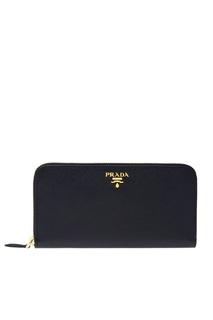 Кожаный кошелек Prada