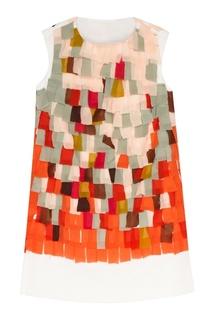 Платье из хлопка и шелка Vardoui Nazarian