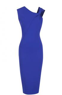 Платье-футляр асимметричного кроя с драпировкой Victoria Beckham
