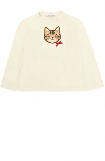Хлопковый свитшот с аппликацией Dolce & Gabbana