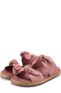 Замшевые сандалии с бантами Jimmy Choo