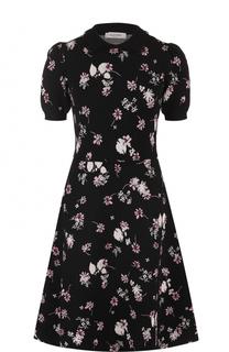Вязаное платье-миди с цветочным принтом Valentino
