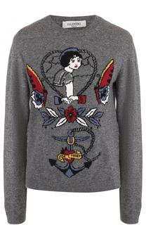 Пуловер прямого кроя с принтом Valentino