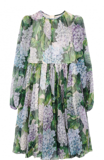 Шелковое платье с цветочным принтом Dolce & Gabbana