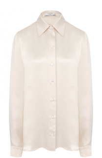 Атласная блуза прямого кроя Lanvin