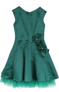 Приталенное платье-миди с цветочным декором David Charles