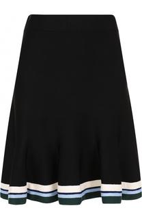 Мини-юбка с контрастной отделкой подола Victoria by Victoria Beckham