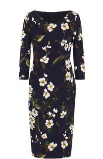 Платье-миди с цветочным принтом Escada