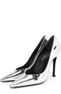 Туфли из металлизированной кожи на шпильке Balenciaga