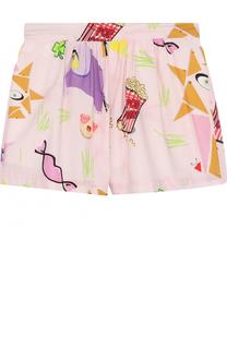 Хлопковые мини-шорты с принтом I Pinco Pallino